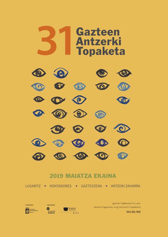 Propuesta de Cartel de Olatz Izagirre para la 31 edición Gazte Antzerki Topaketak de Donostia