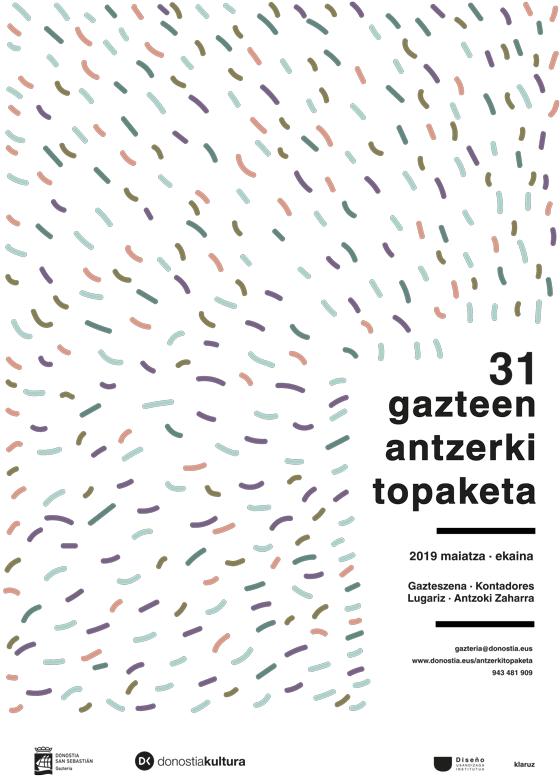 Propuesta de Cartel de Clara Schmidt para la 31 edición Gazte Antzerki Topaketak de Donostia