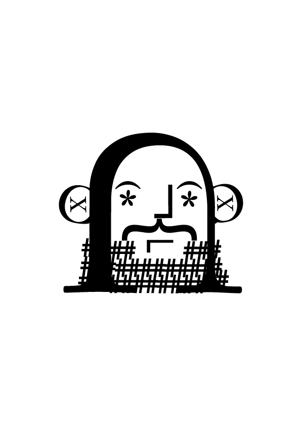 Karagrama de Mikols Kis construido con la tipografía Janson - Ibai Jauregi