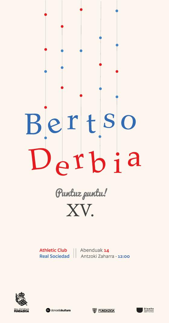 Propuesta de cartel para Bertso Derbia diseñado por Maialen Lopez