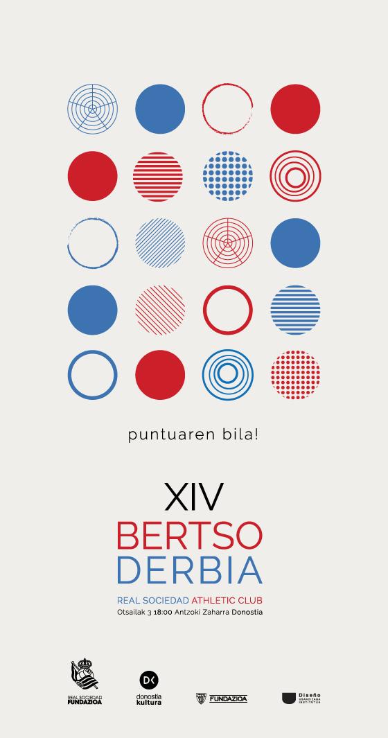 Propuesta de cartel para Bertso Derbia diseñado por Nerea Arroyo