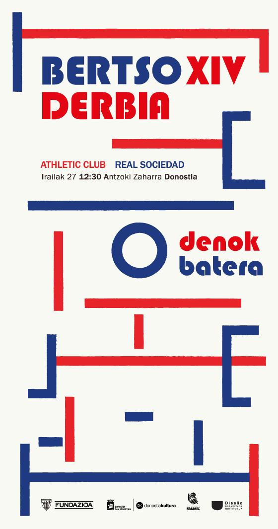 Propuesta de cartel para Bertso Derbia diseñado por Eva nuño