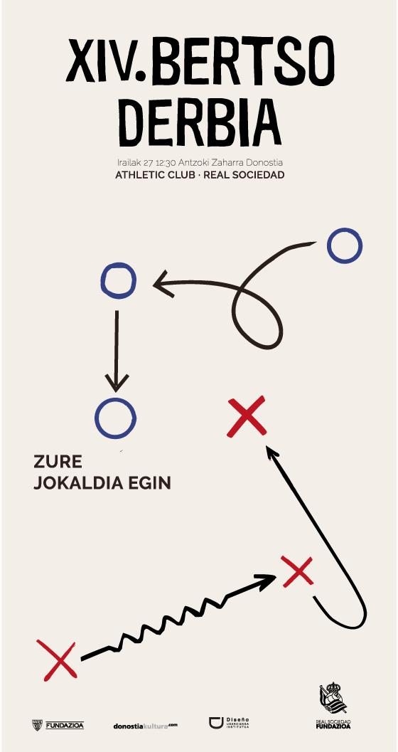 Propuesta de cartel para Bertso Derbia diseñado por Iulen Odriozola