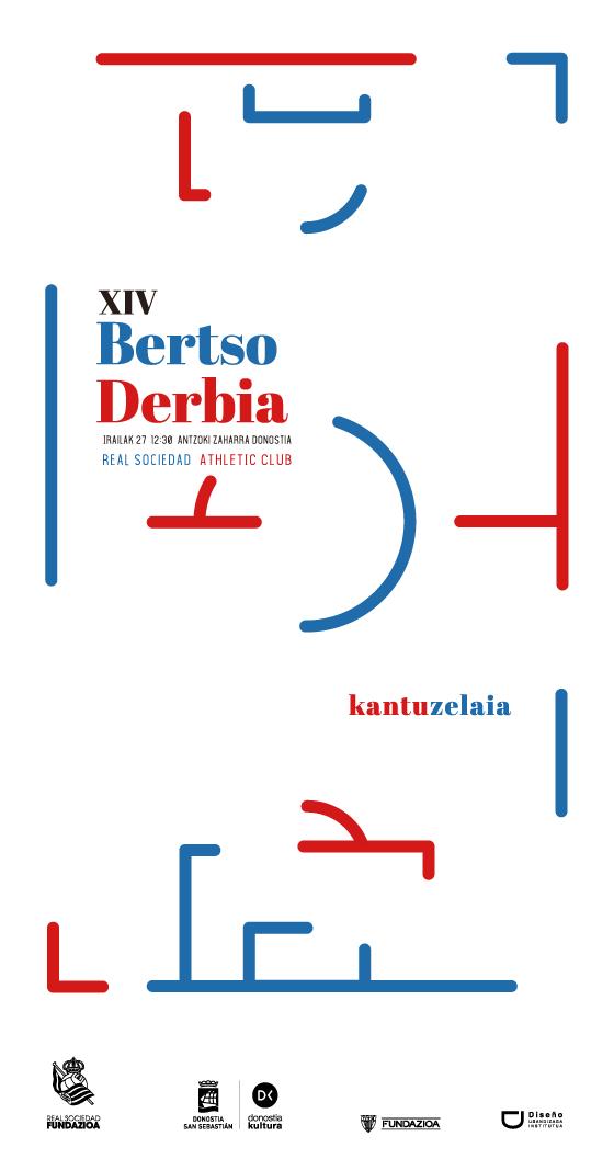 Propuesta de cartel para Bertso Derbia diseñado por Klara Schmidt