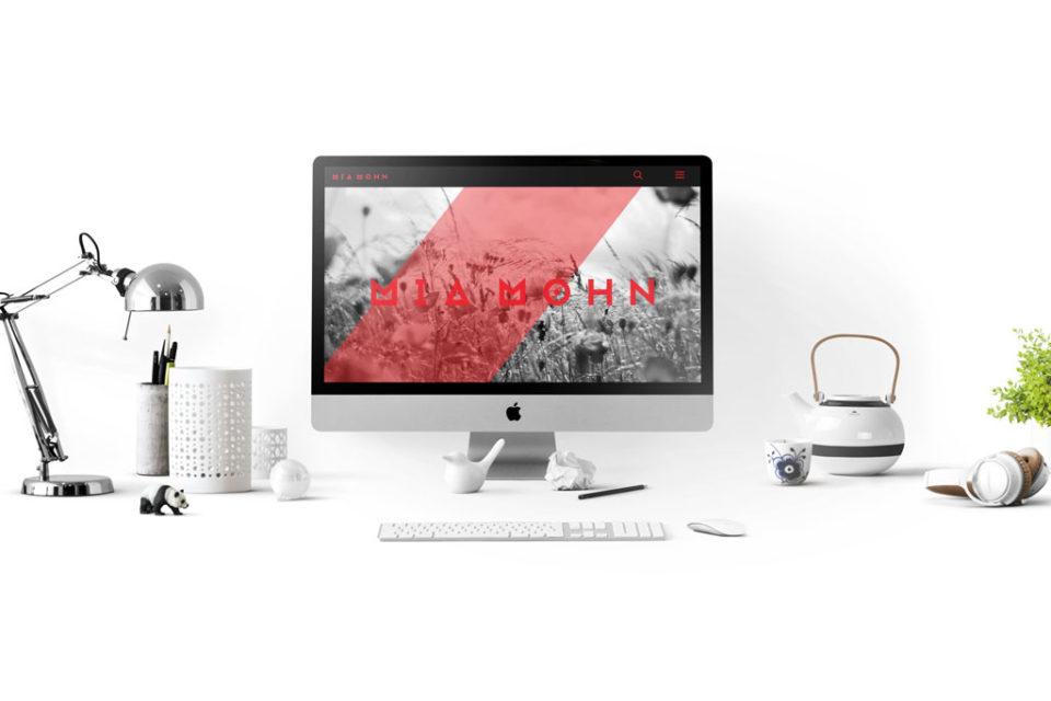 Diseño de Portfolio web de estudiante de Gráfica Publicitaria en Usandizaga - Donostia Fatima Gaio