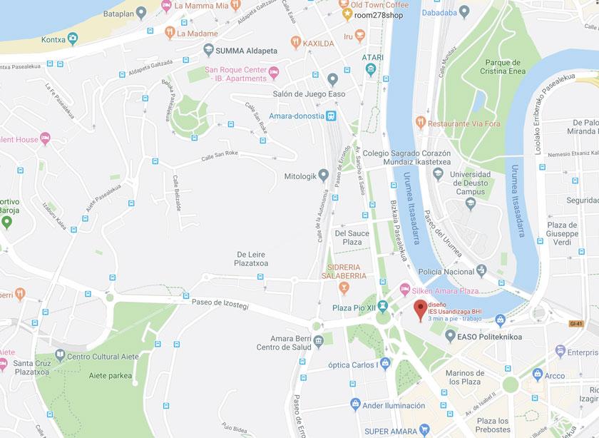 Google Map of usandizaga diseño