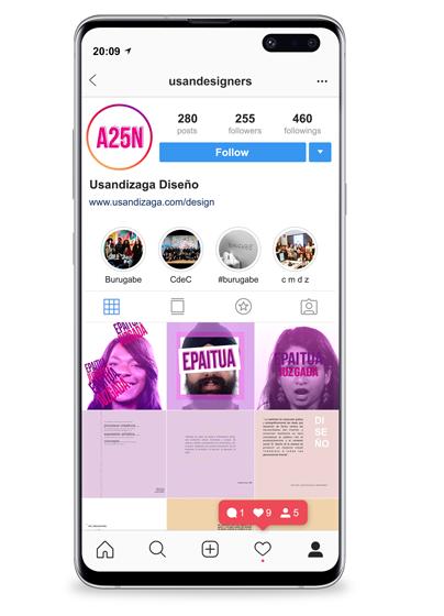 JUZGADA: Instagram campaña contra la violencia de género diseñada en el Ciclo Formativo Grado Superior Usandizaga Diseño