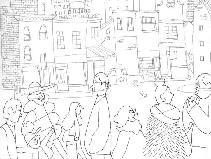 Alexander Fernandez Ilustrador: Aran ilustración en blanco y negro de linea fina