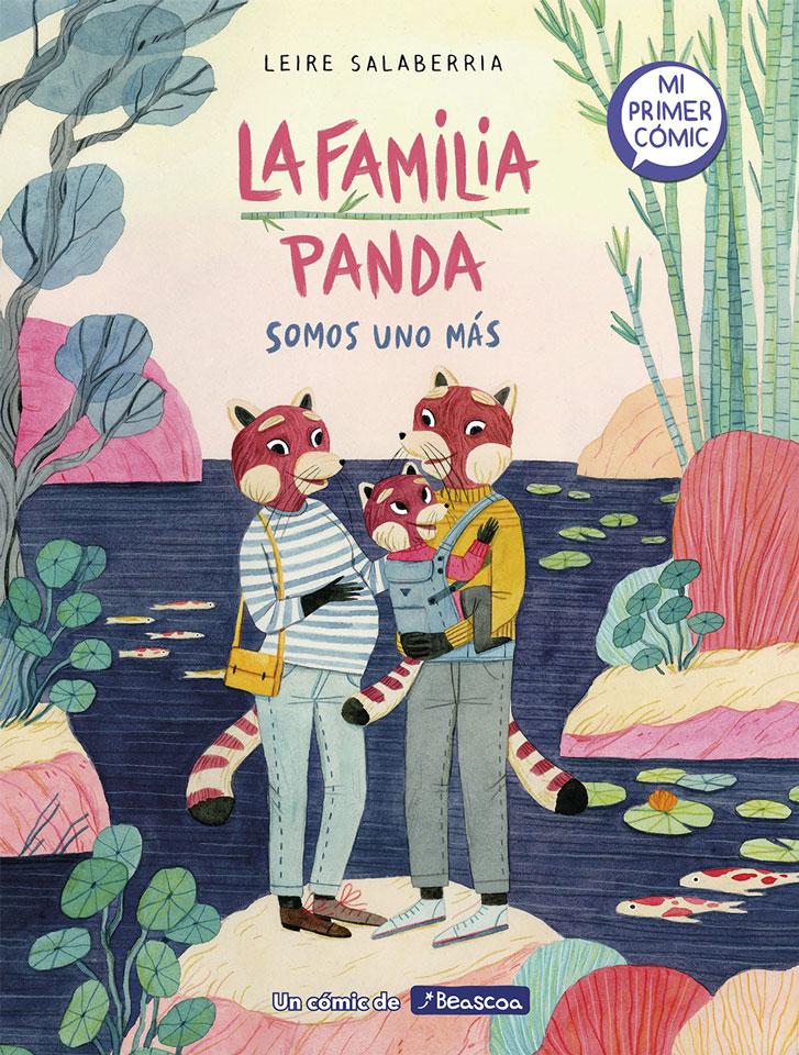 Leire Salaberria Ilustradora ilustración en color portada familia panda