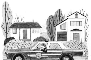 Leire Salaberria ilustratzailea ilustrción en blanco y negro