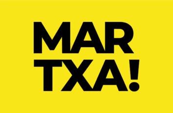 martxa! logo sobre fondo amarillo