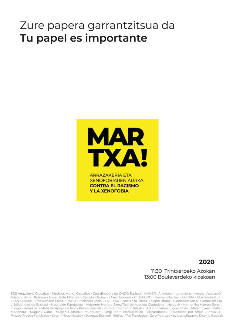 cartel martxa 2020