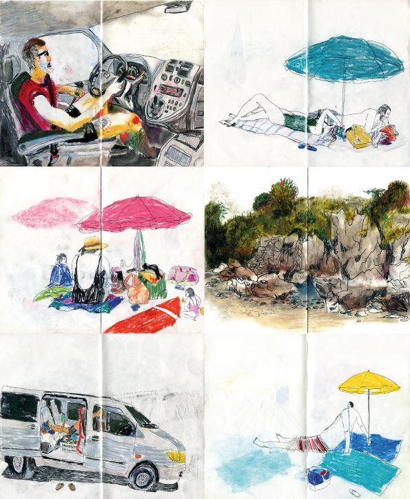 Sandra Garayoa ilustradora furgo sketchs