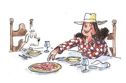 Mikel Vaverde ilustración Shola y la tía de américa