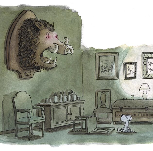 Mikel Vaverde ilustración Shola y los jabalies