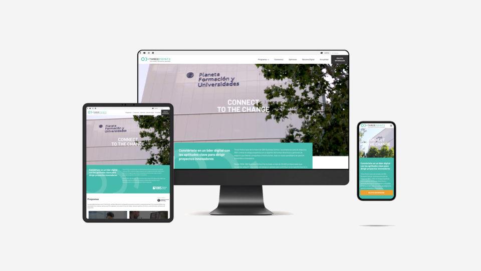 blau diseño web: diseño web three points