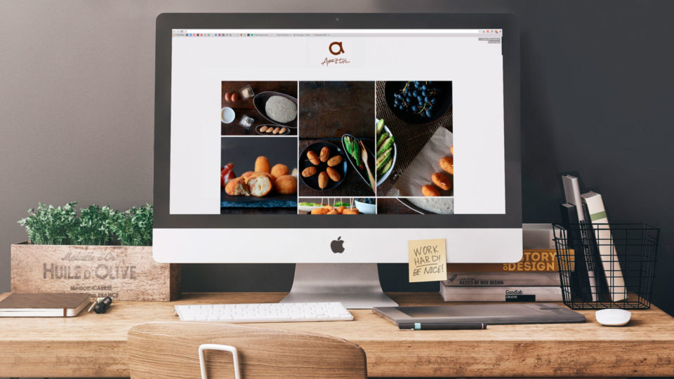 blau diseño web: diseño de la web de Ameztoy