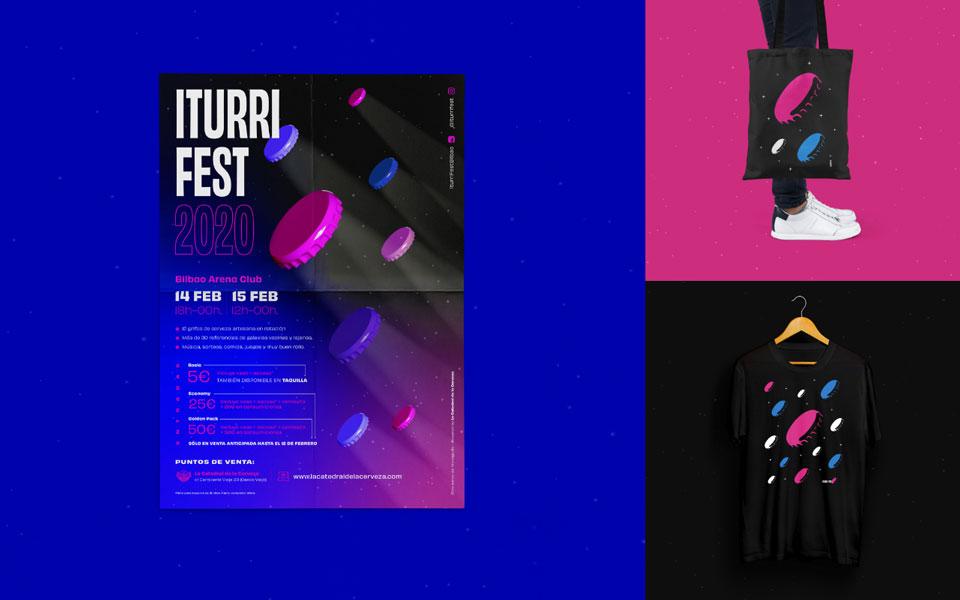 Entrevista Crisis Creativa: diseño identidad gráfica festival Iturri Fest