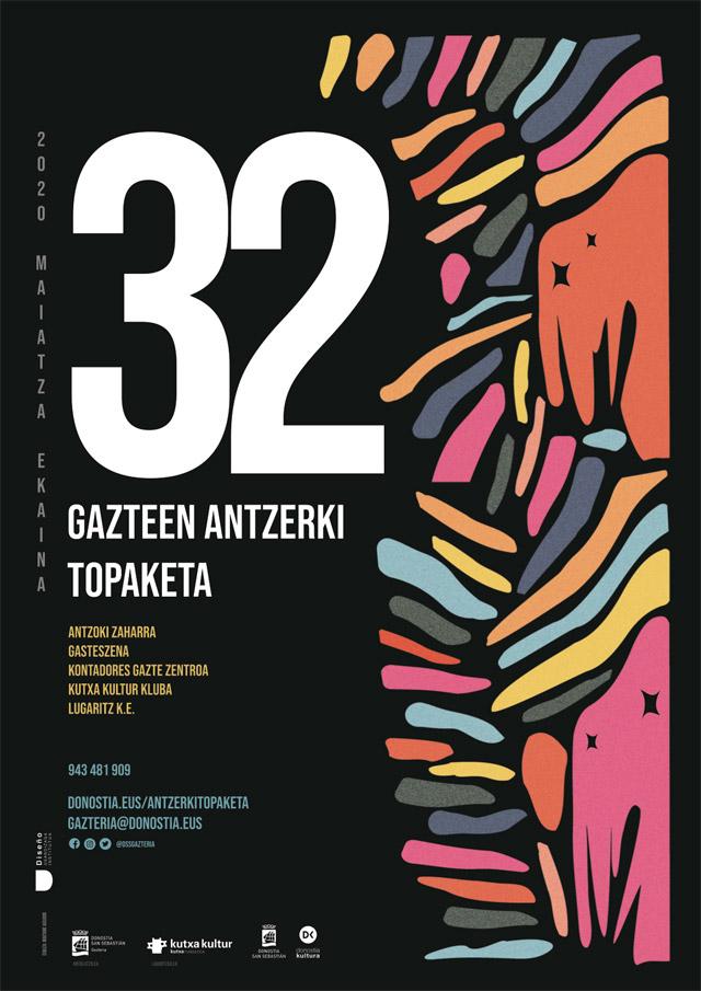 Gazte Antzerki Topaketak - Cartel de teatro by Maitane Aguado