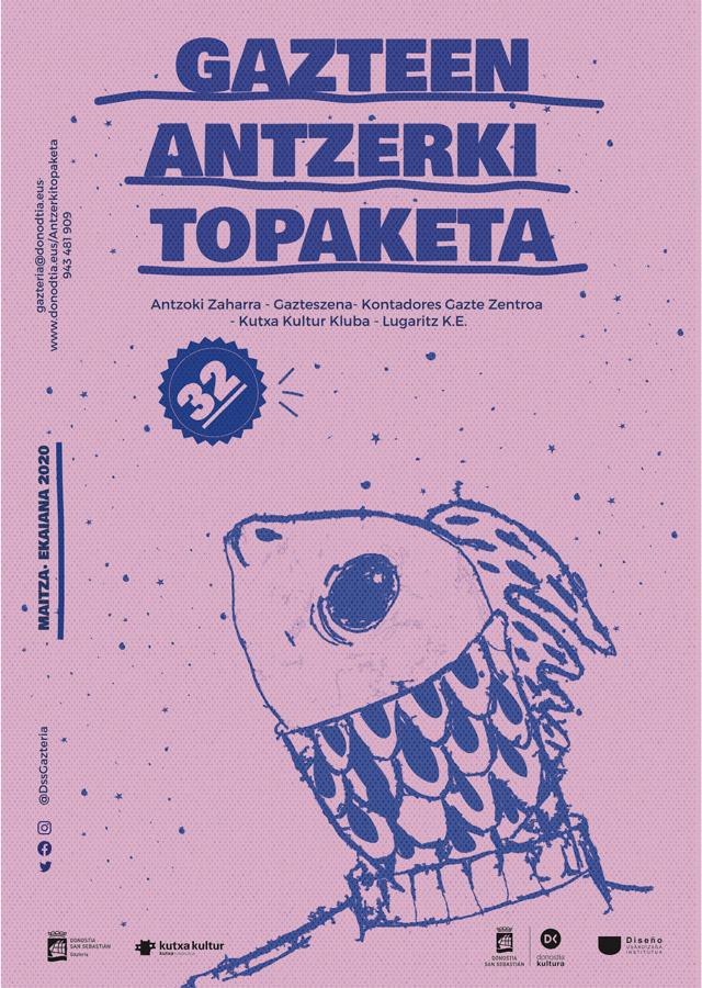 Gazte antzerki topaketak, cartel de teatro, diseñado por Safia Samadi
